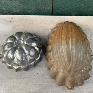 Vintage | Set of two Tin Food Molds